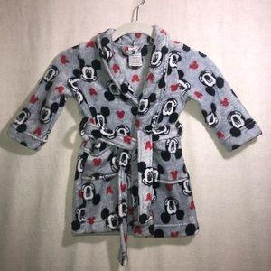 Disney's Mickey Mouse toddler boys bath robe 2T
